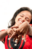 Beautiful joyful Indian girl Stock Photos