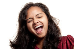 Beautiful joyful Indian girl Stock Images