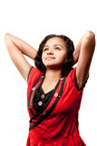 Beautiful joyful Indian girl Stock Photo