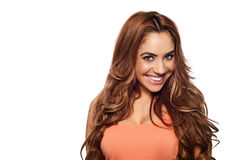 Beautiful joyful young woman Stock Image