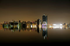 Beautiful Juffair skyline and reflection, Bahrain Royalty Free Stock Photo