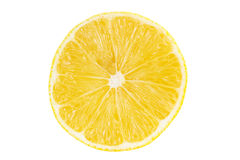 Beautiful juicy half of a lemon on white background Stock Images