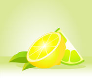 Beautiful juicy lemon Stock Photos