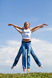 Beautiful Jump Stock Image