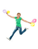 Beautiful jumping girl Stock Image
