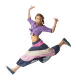 Beautiful Jumping girl Royalty Free Stock Photo