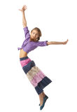 Beautiful Jumping girl Royalty Free Stock Image