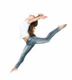 Beautiful jumping girl Stock Photo