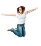 Beautiful jumping girl Royalty Free Stock Photography