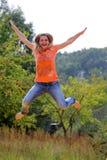 Beautiful Jumping Girl Stock Images