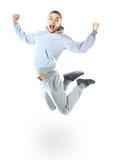 Beautiful jumping man Stock Photo