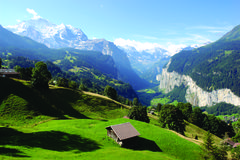 Beautiful Jungfrau Tal royalty free stock photography