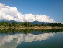 Beautiful Kachin State. Along Maykha River royalty free stock images