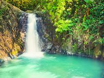 Beautiful Kaeng Nyui Waterfalls. Laos landscape. Royalty Free Stock Photography