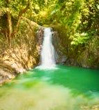 Beautiful Kaeng Nyui Waterfalls. Laos landscape. Stock Photo