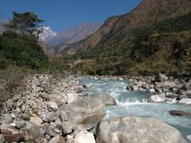 Beautiful Kali Ghandaki River Royalty Free Stock Images
