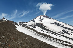Beautiful Kamchatka volcanic landscape: active Avachinsky Volcano. Kamchatka, Russia Stock Photos