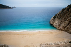 Beautiful Kaputash Beach in Turkey. Beautiful small and picturesque Kaputash beach in Antalya province of Turkey view from above with turquoise sea and rocks Stock Photos