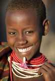Beautiful Karo woman in South Omo, Ethiopia Stock Image