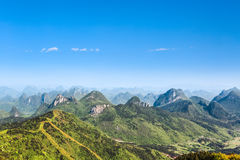 Beautiful karst hills scenery Royalty Free Stock Photography