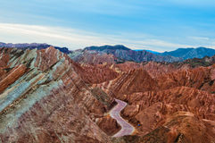 Beautiful Karst landform. This is Karst landscape, the landscape is located in Zhangye City, Gansu Province, china. Karst landform is very rare, is also very Stock Photo
