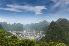 Beautiful karst mountain landscape around yangshuo Stock Images