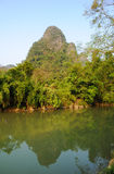 Beautiful Karst mountain landscape in Yangshuo Royalty Free Stock Image