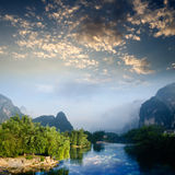 Beautiful Karst mountain landscape Royalty Free Stock Photos