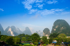 Beautiful Karst mountain landscape Stock Images