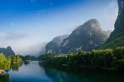 Beautiful Karst mountain landscape Stock Photo