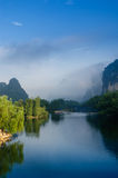 Beautiful Karst mountain landscape Royalty Free Stock Images