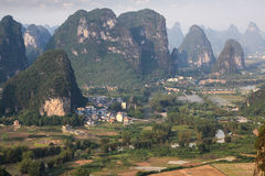 Beautiful karst mountain in yangshuo Stock Images