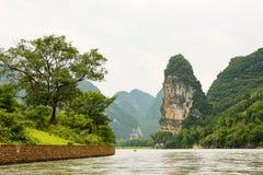 Beautiful karst mountains li river Royalty Free Stock Image