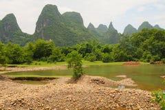 Beautiful karst mountains li river Stock Images
