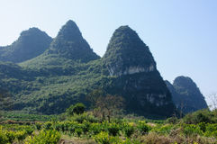 The beautiful karst mountains scenery Stock Photo