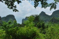 Beautiful karst rural scenery at Guilin, China Stock Image