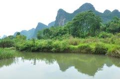 Beautiful karst rural scenery at Guilin, China Stock Photos