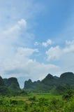 Beautiful karst rural scenery at Guilin, China Royalty Free Stock Photography
