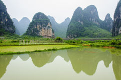 Beautiful karst rural scenery in Guilin, China Stock Images