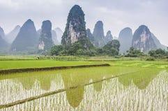 Beautiful karst rural scenery in Guilin, China Royalty Free Stock Image