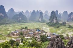 Beautiful karst rural scenery in Guilin, China Stock Images