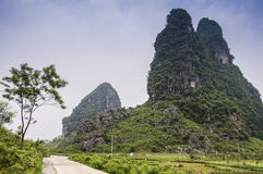 Beautiful karst rural scenery in Guilin, China Stock Photos