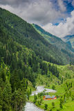 Beautiful kashmir. Kashmir throughout the ages has remained another name for Paradise. Cradled in the lap of majestic mountains of the Himalayas Stock Photo