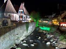 The beautiful Kayserberg. Kayserberg village and the river stock photo