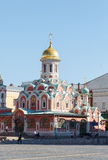 Beautiful Kazan (Kazansky) Cathedral at Red Square Stock Images