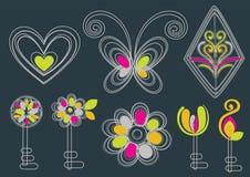 Beautiful key background design Stock Photo