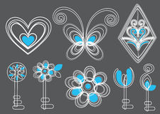 Beautiful key background design in blue and white Royalty Free Stock Photography