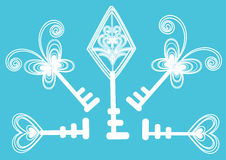 Free Beautiful Key Background Design In Soft Blue Royalty Free Stock Image - 17368476