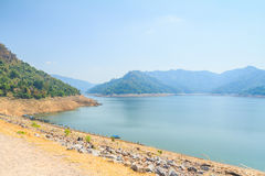 Beautiful of Khun Dan Prakarnchon Dam Royalty Free Stock Photo