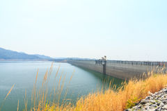 Beautiful of Khun Dan Prakarnchon Dam Stock Image